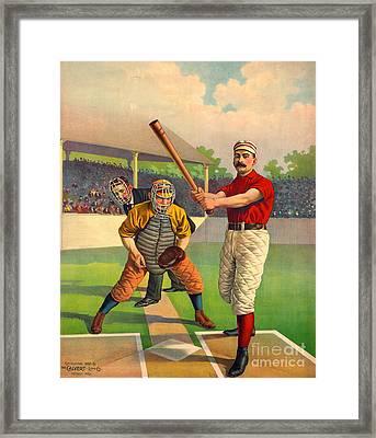 Batter Up 1895 Framed Print by Padre Art