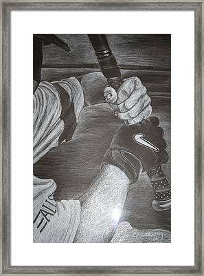 Batter Up Framed Print by Melissa Wiater Chaney