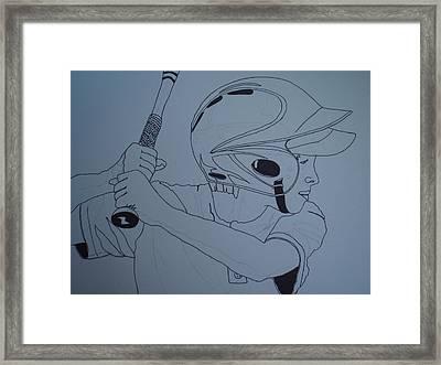 Batter Up Framed Print by Michael Runner
