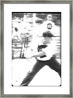 Batter Up  Framed Print by Steven Digman