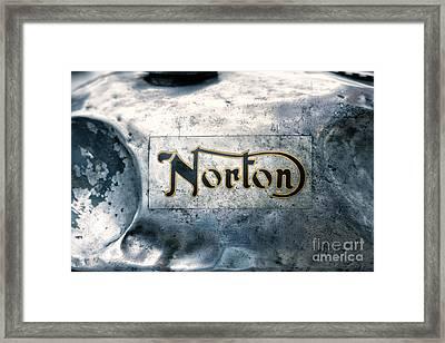 Battered Norton Gas Tank Framed Print