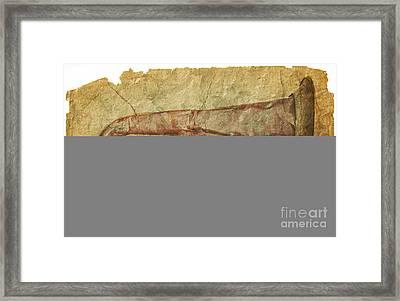 Battered Old Trumpet Framed Print by Michal Boubin