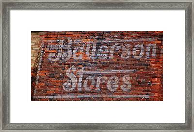 Batterson Stores Framed Print by Jame Hayes