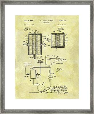Battery Cell Patent Framed Print by Dan Sproul