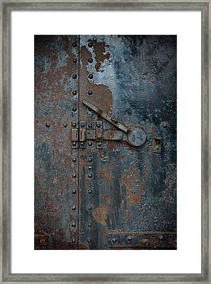Battery Door Framed Print
