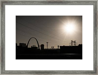 Electric Field Framed Print
