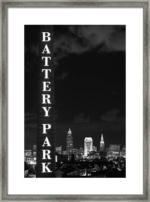 Battery Park Cleveland Skyline Framed Print by Clint Buhler