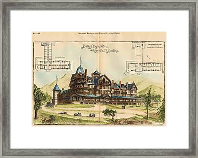 Battery Park Hotel. Asheville Nc. 1886 Framed Print by Hazlehurst and Huckel