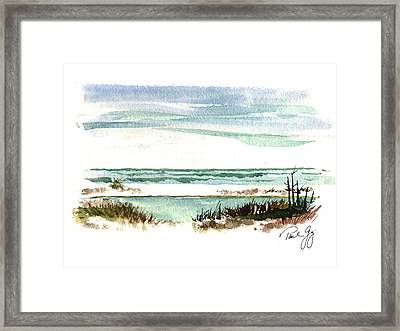 Battery Payne Fort Pickens Florida Framed Print