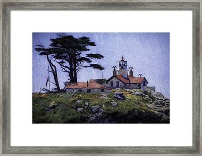 Battery Point Lighthouse Crescent City California Framed Print