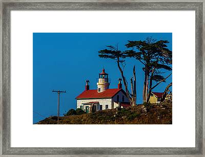 Battery Point Lighthouse Cresent City Framed Print by Garry Gay