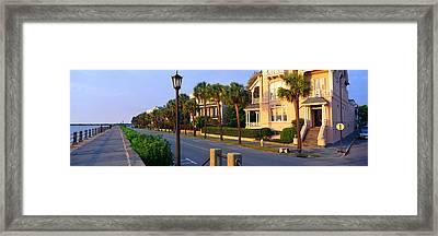 Battery Street Waterfront, Charleston Framed Print