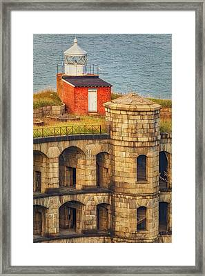 Framed Print featuring the photograph Battery Weed At Fort Wadsworth Nyc by Susan Candelario
