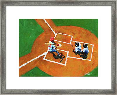Batting Cleanup Framed Print