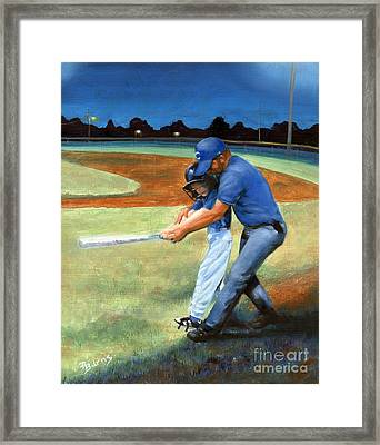 Framed Print featuring the painting Batting Coach by Pat Burns