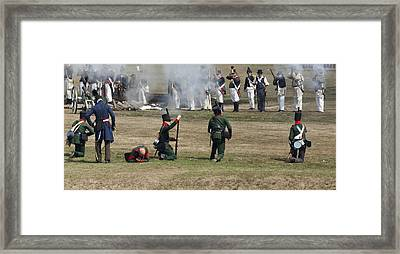 Battle 1 Framed Print by Peter Chilelli
