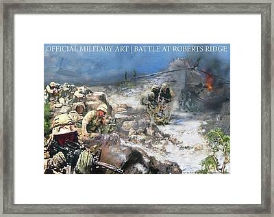 Battle At Roberts Ridge Framed Print
