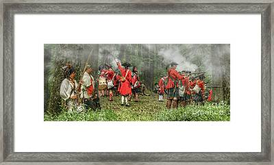 Battle For Empire French And Indian War Framed Print by Randy Steele