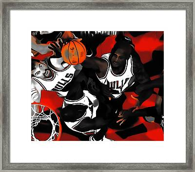 Battle For The Rebound Framed Print by Brian Reaves