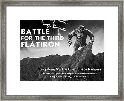 Battle For The Third Flatiron Framed Print by Jerry McElroy