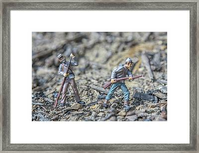 Battle In My Back Yard Framed Print by Randy Steele