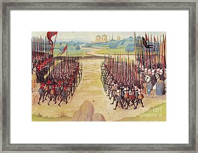 Battle Of Agincourt, 1415 Framed Print by Granger