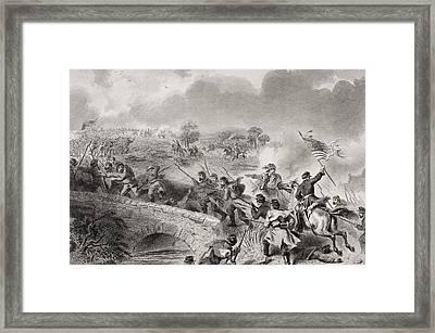 Battle Of Antietam Near Sharpsburg Framed Print