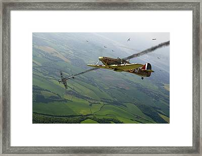 Battle Of Britain Dogfight Framed Print