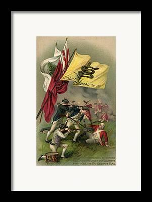 Battle Of Bunker Hill Framed Prints