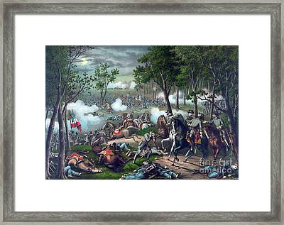 Battle Of Chancellorsville, 1863 Framed Print by Science Source