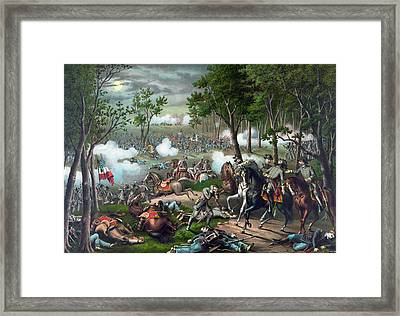 Battle Of Chancellorsville - Death Of Stonewall Framed Print by War Is Hell Store