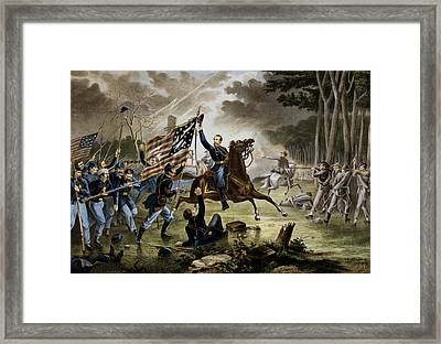 Battle Of Chantilly - Civil War Framed Print