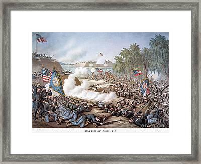 Battle Of Corinth, 1862 Framed Print