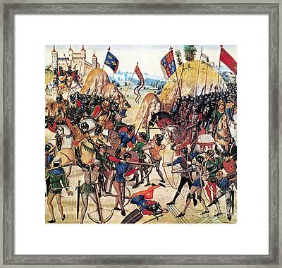 Battle Of Crecy, 1346 Framed Print by Granger