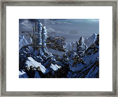 Framed Print featuring the digital art Battle Of Eagle's Peak by Curtiss Shaffer