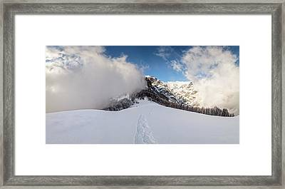 Battle Of Earth And Sky Framed Print by Evgeni Dinev