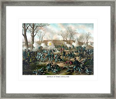 Battle Of Fort Donelson Framed Print by War Is Hell Store