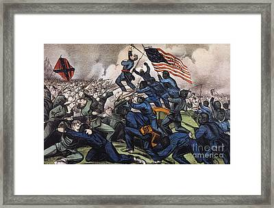 Battle Of Fort Wagner, 1863 Framed Print