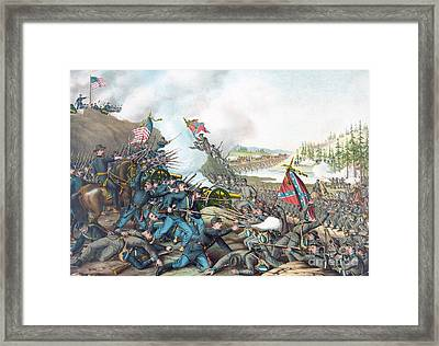 Battle Of Franklin Framed Print by American School