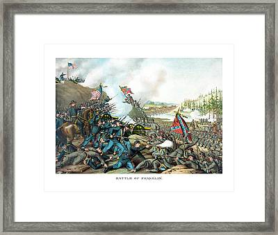 Battle Of Franklin - Civil War Framed Print by War Is Hell Store