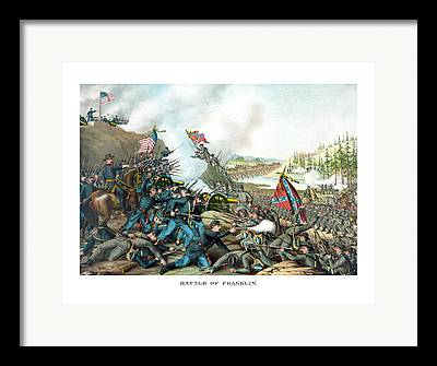 Battle Of Franklin Framed Prints