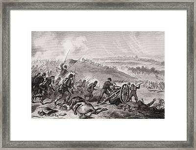 Battle Of Gettysburg Pennsylvania July Framed Print by Vintage Design Pics