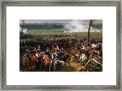 Battle Of Hanau Framed Print by Mountain Dreams