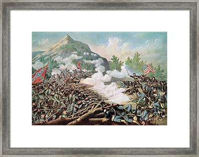 Battle Of Kenesaw Mountain Georgia 27th June 1864 Framed Print by American School