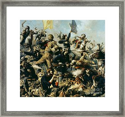 Battle Of Little Bighorn Framed Print by Edgar Samuel Paxson