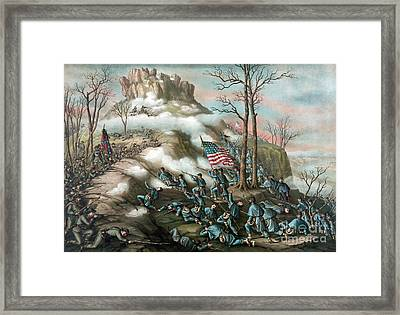 Battle Of Lookout Mountain, 1863 Framed Print by Science Source