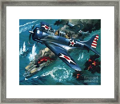 Battle Of Midway Framed Print