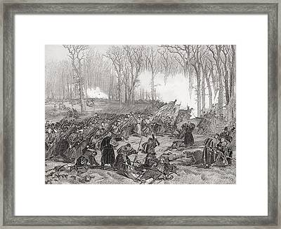 Battle Of Mill Creek Kentucky 1862 Framed Print by Vintage Design Pics