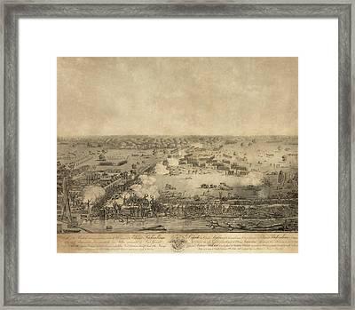 Battle Of New Orleans. The British Framed Print by Everett