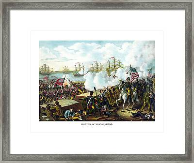 Battle Of New Orleans Framed Print by War Is Hell Store